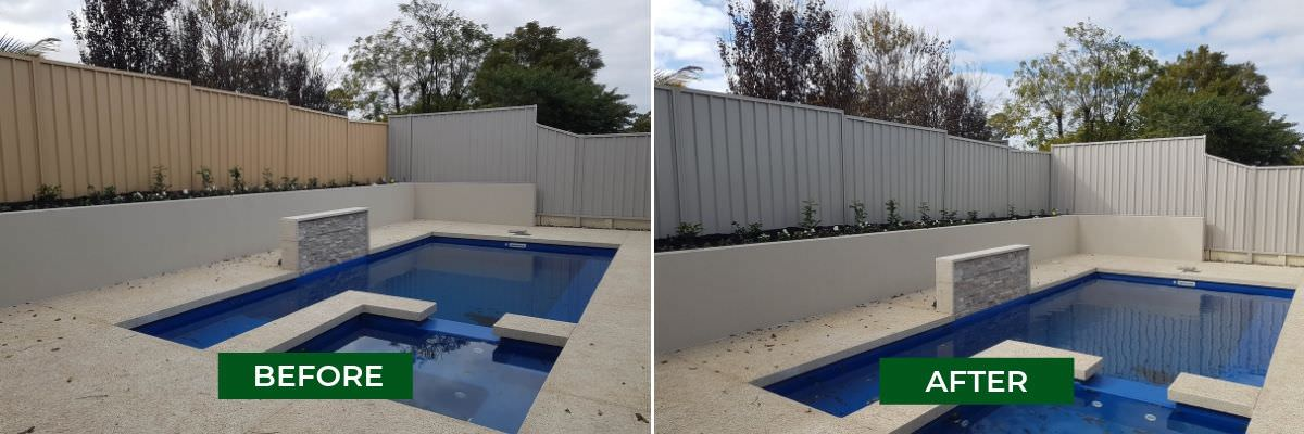 painting colorbond fence