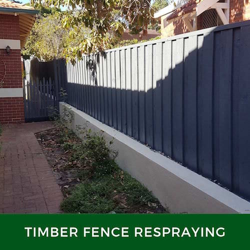 fence spray painting Perth
