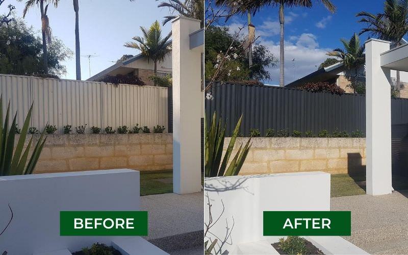 fence respraying