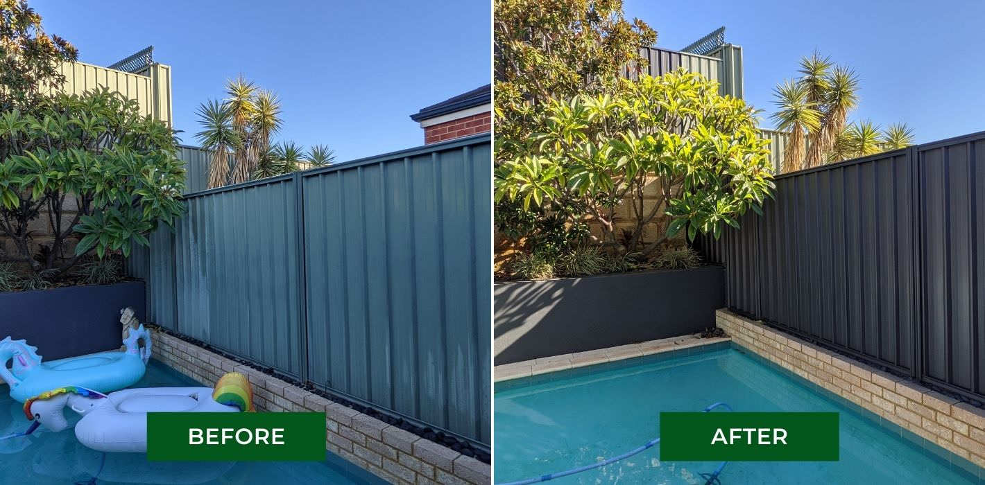 colorbond fence painting